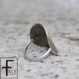 Anello argento tribale