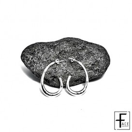 Orecchino spirale in argento 925