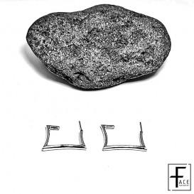 Orecchini quadrati in argento 925