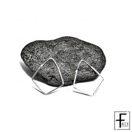 Orecchino rombo in argento 925