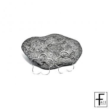 Orecchino fiore in argento 925
