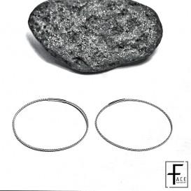 Orecchino cerchio zigrinato in argento 925
