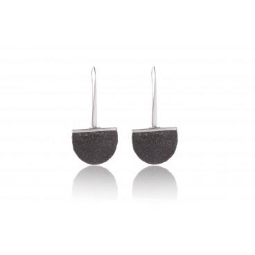 Orecchini in pietra lavica e argento 925 - LOR2