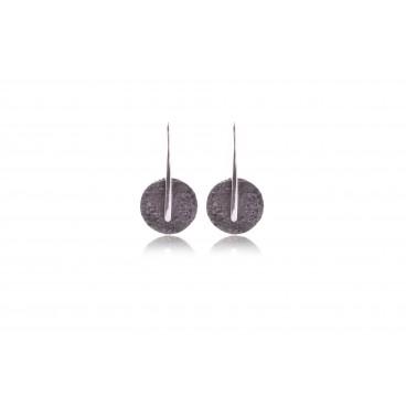 Orecchini in pietra lavica e argento 925 - LOR20