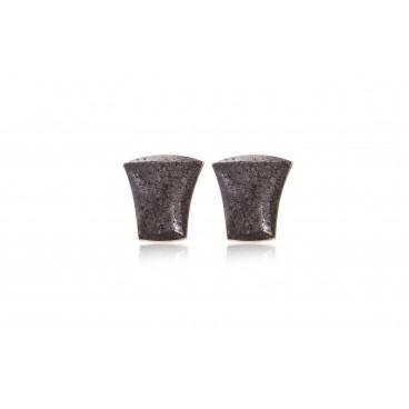 Orecchini in pietra lavica e argento 925 - LOR24