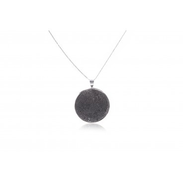 Pendente in pietra lavica e argento 925 - LCN14