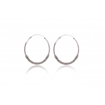 Orecchini a cerchio in argento 925 - CER3